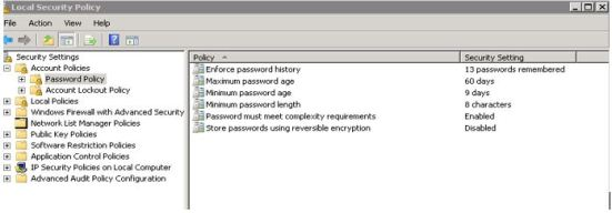 SQL Server Password Policy
